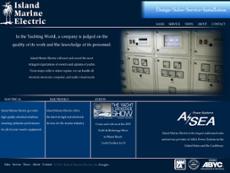 Island Marine Electric website history