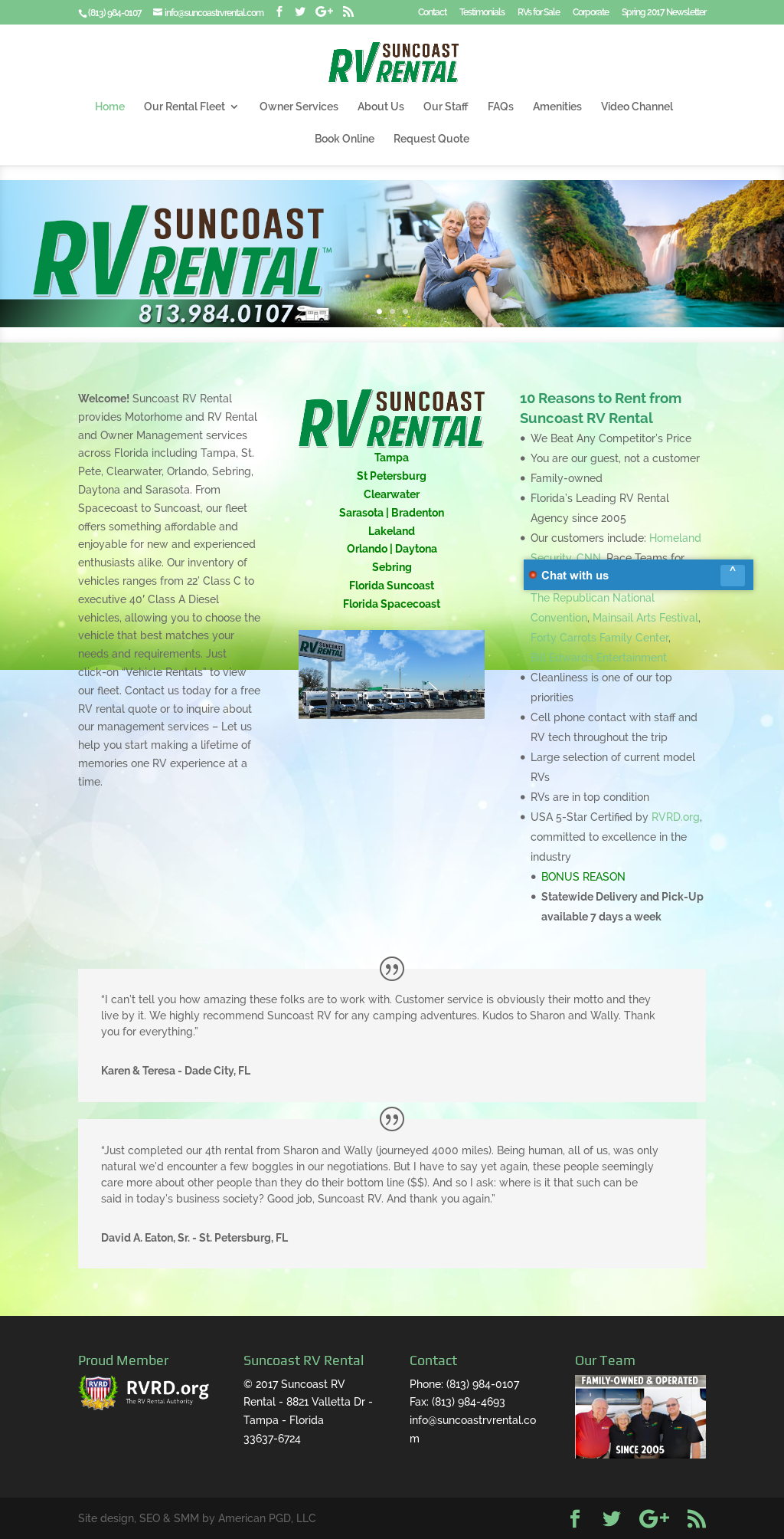 Suncoast Rv Rentals & Management Competitors, Revenue and Employees