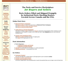 Parts & Services website history