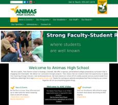 Animas High School website history