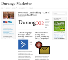 Durango Marketer website history