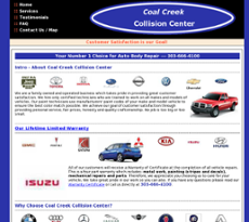 Coal Creek Collision Center website history