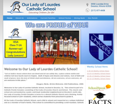 Our Lady of Lourdes School website history