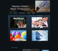 Maestro Mobile Music Productions website history