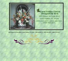 Coral Gables Florist website history