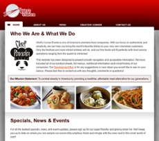 Chef's Corner website history