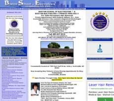 Boston School of Electrolysis website history