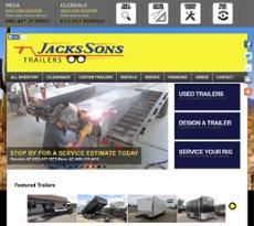 Jacks Sons Trailers website history
