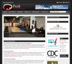 Peak Performance website history