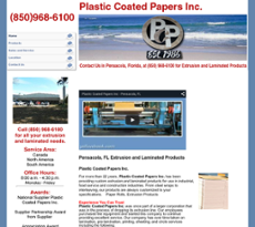 Plastic Coated Papers website history