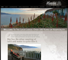 Lucia Lodge website history