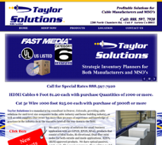 Taylor Solutions website history