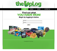 The Up Log website history