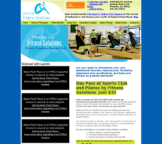 Fitness Solutions website history