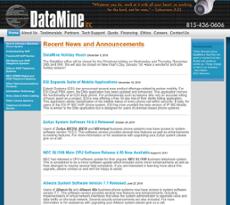 Datamine website history
