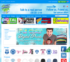 TShirt Express website history