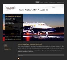 Hunter Aviation Support Service website history
