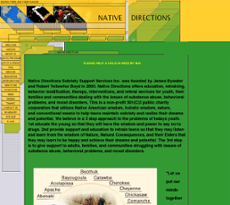 Native Directions website history