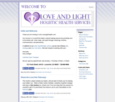 Love and Light website history