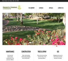 Desert Classic Landscaping website history
