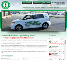 Green Light Driving School website history