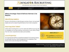 Navigator Recruiting website history
