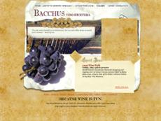 Bacchus Vino Etcetera website history