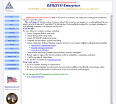 Derisco website history