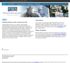Personal Benefit Services website history