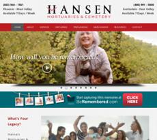 Hansen Mortuary website history