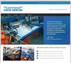 Express Screen Printing website history