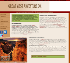 Great West Adventure website history