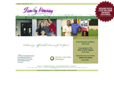 Family Housing Resources website history