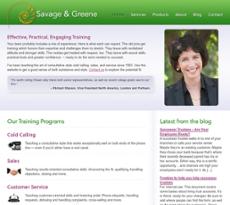 Savage&Greene website history