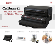 Akiles Products website history