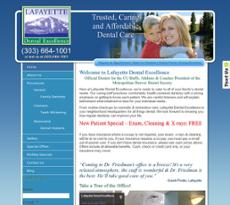 Lafayette Dental Excellence website history