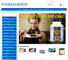 Vitamins of the Month website history