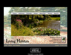 Living Habitats website history