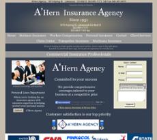 A'Hern Insurance Agency website history