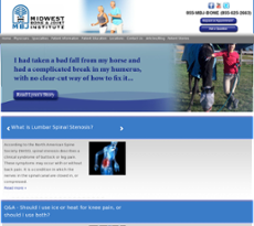 Midwest Bone & Joint Institute website history