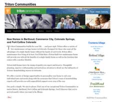 Triton Communities website history
