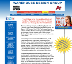 Warehouse Design Group website history