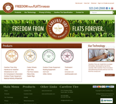 Carefree Tire website history