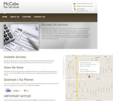 McCabe Tax Services website history