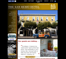 The San Remo Hotel website history