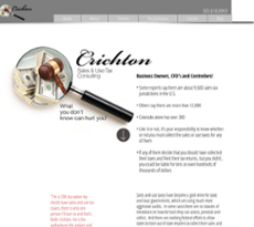 Chricton Consulting Services website history