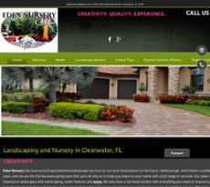 Eden Nursery website history