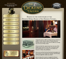 The Dickens Tavern website history