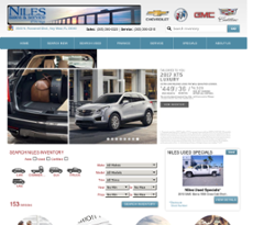 Niles Sales and Service website history