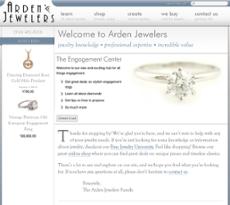 Arden Jewelers website history